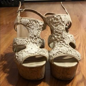 Wicker wedges from Charlotte Russe